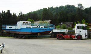 Перевозка негабаритного катера