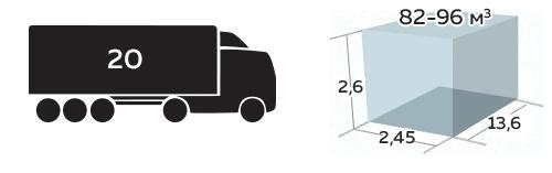 Иконка грузоподъемность До 20 тонн, 82-96м